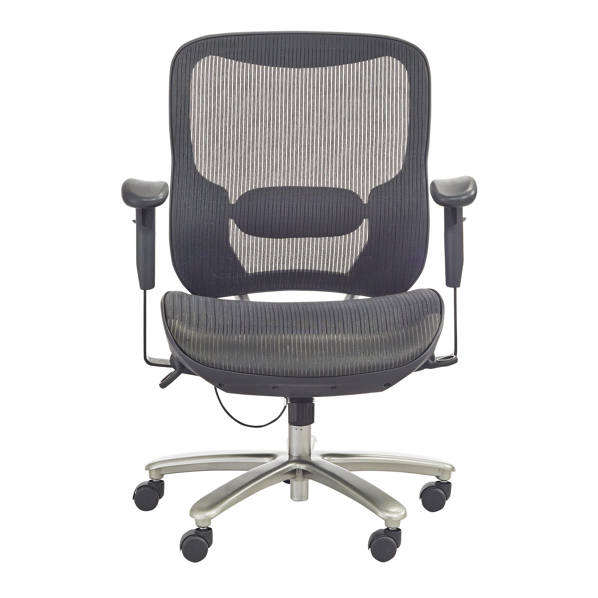 safco lineage all mesh task chair in black finish 3505bl